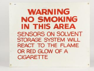 WARNING NO SMOKING IN THIS AREA S S AlUMINUM SIGN