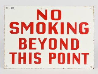 NO SMOKING BEYOND THIS POINT SSP SIGN