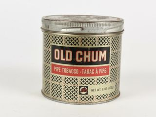 OlD CHUM PIPE TOBACCO  TABAC A PIPE 6 OZ  TIN