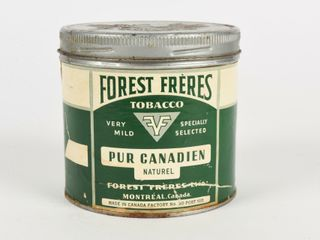 FOREST FRERES PURE CANADIAN TOBACCO TIN