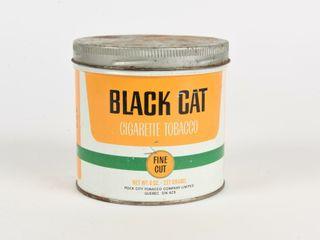 BlACK CAT FINE CUT 8 OZ  TOBACCO CAN