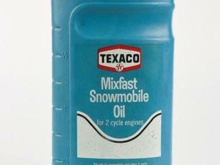TEXACO MIXFAST SNOWMOBIlE OIl IMP  QT  CONTAINER