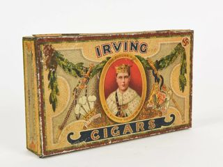 IRVING CIGARS  OUR FUTURE KING  CIGAR BOX