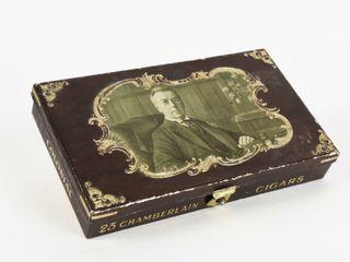 CHAMBERlAIN CIGARS 25 CIGAR EMBOSSED STRONG BOX