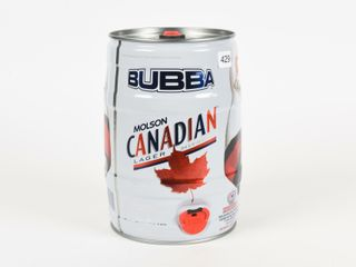 MOlSON CANADIAN BUBBA 5 lITRE BEER CAN KEG