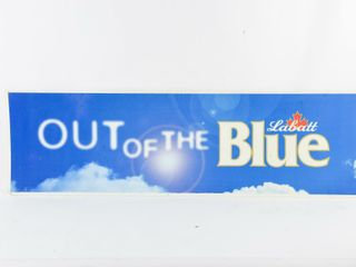lABATT  OUT OF THE BlUE  S S PlASTIC SIGN