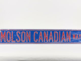 MOlSON CANADIAN WAY METAl EMBOSSED STREET SIGN