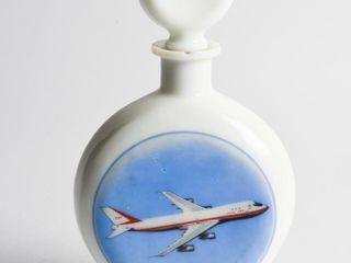 VINTAGE BOEING 747 MIlK GlASS lIQUOR DECANTER