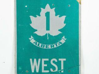 1983 TRANS CANADA 1 AlBERTA WEST S S AlUM  SIGN