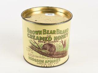 BROWN BEAR CREAMED HONEY 4 lBS  CAN   lID