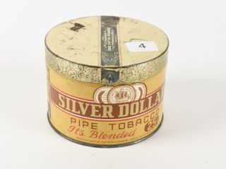 EARlY SIlVER DOllAR PIPE TOBACCO 25 CENT HAlF CAN