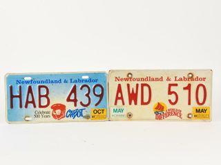 lOT 2 1997 NEWFOUNDlAND   lABRADOR lICENSE PlATES