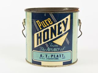 PURE HONEY 4 POUNDS PAIl   lID   WOOD GRIP HANDlE