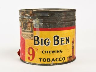 VINTAGE BIG BEN CHEWING TOBACCO POUND CUT OFF CAN