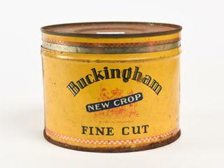 BUCKINGHAM NEW CROP FINE CUT TOBACCO CUT OFF CAN