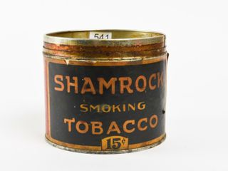 SHAMROCK SMOKING TOBACCO 15 CENT HAlF CAN