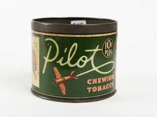 PIlOT CHEWING TOBACCO 10 CENT PlUG HIGH HAlF CAN