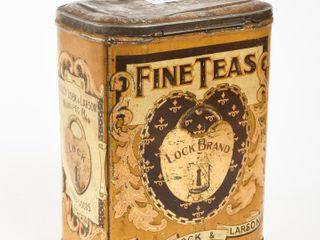 VINTAGE lOCK BRAND FINE TEAS TEA CANISTER