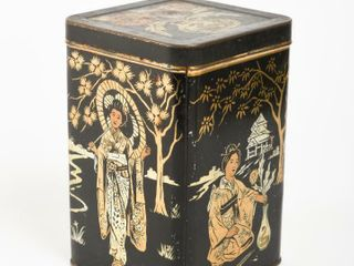 CHINESE TIN TEA CANISTER