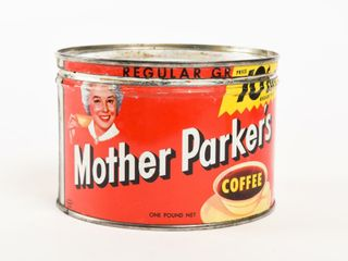 MOTHER PARKER S REGUlAR COFFEE POUND CAN