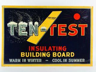 TEN TEST INSUlATING BUIlDING BOARD SST SIGN