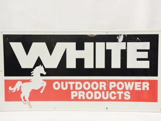 WHITE OUTDOOR POWER PRODUCTS SST EMBOSSED SIGN