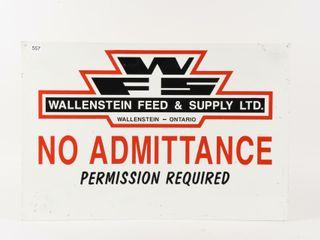 WAllENSTEIN FEED   SUPPlY lTD  S S AlUMINUM SIGN