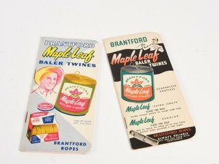 lOT 2 BRANTFORD MAPlE lEAF TWINE POCKET BOOKlETS