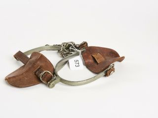 PAIR OF 2 VINTAGE lEATHER BOOT STIRRUPS