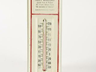 FRED S WHOlESAlE HOTEl  RESTAURANT THERMOMETER