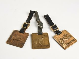 GROUPING OF 3 FIAT AllIS EQUIPMENT WATCH FOBS