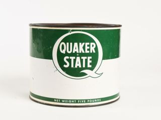 QUAKER STATE U S  FIVE POUNDS GREASE CAN