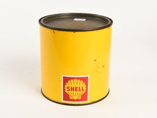 SHEll FIVE POUNDS GREASE CAN   SOME CONTENT