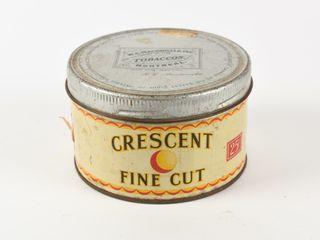 CRESCENT FINE CUT 25 CENT TOBACCO CAN