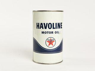 TEXACO HAVOlINE MOTOR OIl IMPERIAl QT  CAN  FUll