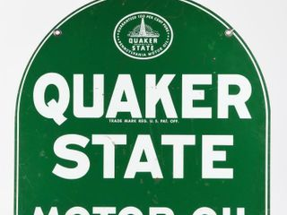 1967 QUAKER STATE OIl COMPANY D S TOMBSTONE SIGN