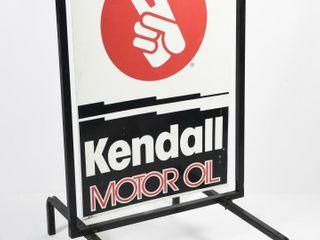 KENDAll MOTOR OIl SIDEWAlK SIGN