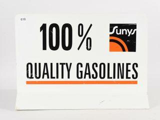 SUNYS 100  QUAlITY GASOlINE D S AlUM  TOPPER