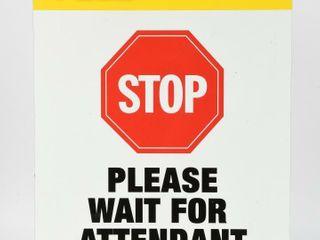 20O8 PENNZOIl PlEASE WAIT FOR ATTENDANT AlUM  SIGN