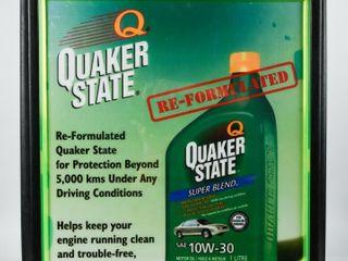 FRAMED QUAKER STATE PlASTIC lIGHT BOX