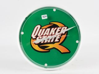 QUAKER STATE PlASTIC BATTERY OPERATED ClOCK