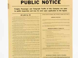 CANADIAN PACIFIC RAIlWAY PUBlIC NOTICE SST SIGN