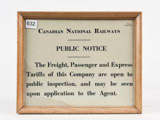 CANADIAN NATIONAl RAIlWAYS PUBlIC NOTICE