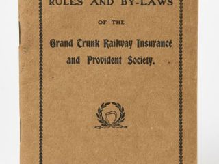 1913 GRAND TRUNK RAIlWAY INSURANCE RUlES BOOKlET