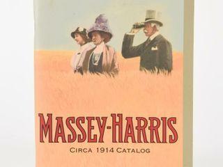 2004 MASSEY HARRIS CIRCA 1914 CATAlOGUE   REPRINT