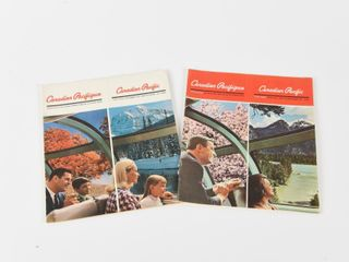 lOT 2 1960 S CANADIAN PACIFIC TIME TABlE BOOKlETS