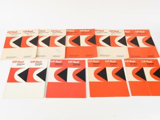 GROUPING OF 9 CP RAIl 1970 S TIME TABlES