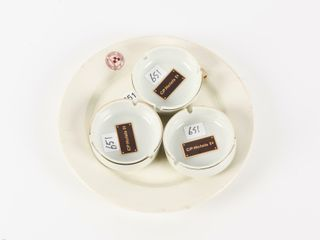 lOT OF 4 CANADIAN PACIFIC RAIlWAY ASHTRAYS   PlATE