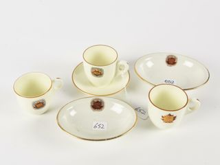 lOT OF 6 CANADIAN NATIONAl HOTElS CHINA
