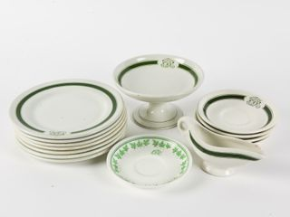 GROUPING OF VINTAGE CPR HOTEl CHINA